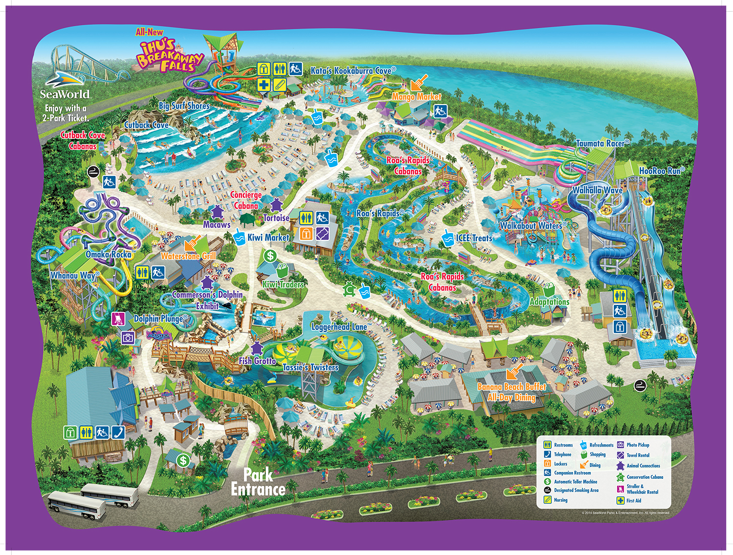 Park Map – Orlando Florida Tourist Attractions Map
