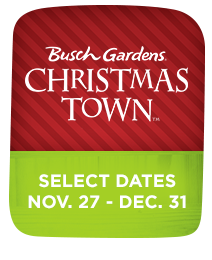 Christmas Town at Busch Gardens Tampa