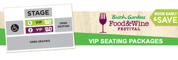Food Wine VIP Packages Busch Gardens Tampa Bay