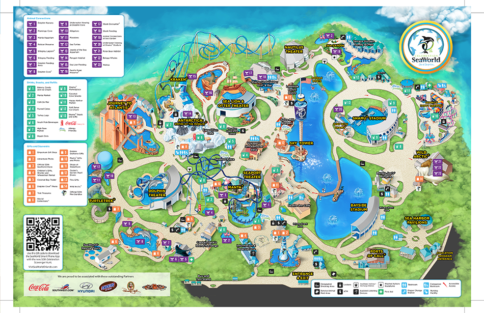 Image Gallery Seaworld Map 2015